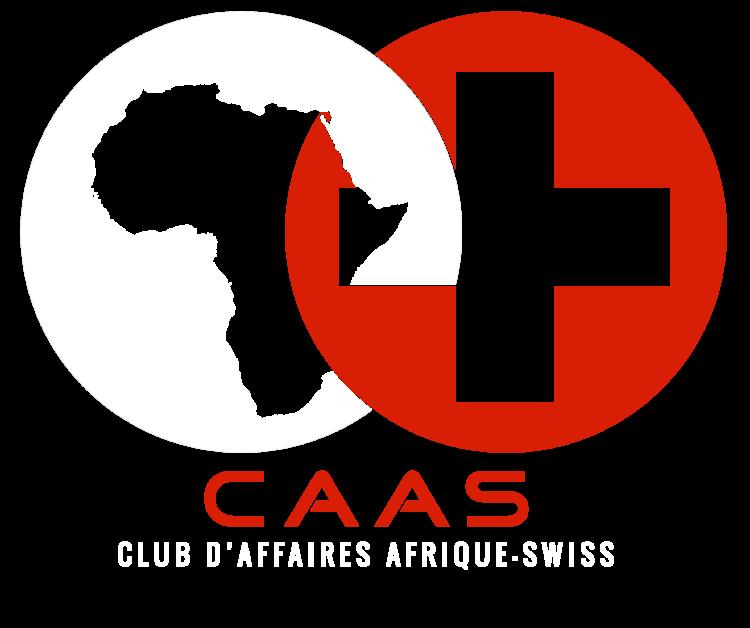 Logo CAASWISS blanc et rouge
